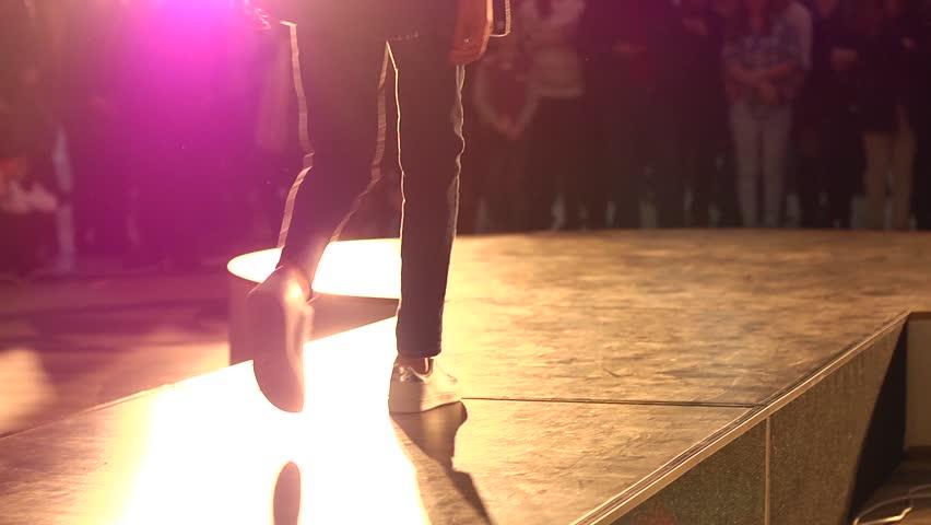 KHERSON, UKRAINE - FEB 28, 2015: Free open catwalk model show in a public place   Shutterstock HD Video #11879495