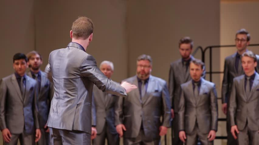 MOSCOW, MAY 2015: Sweeden zero eight choir concert
