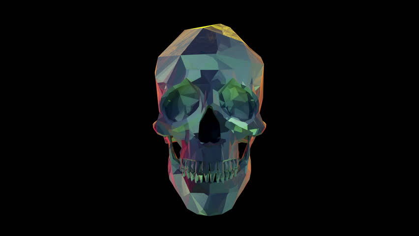 Skull rotate loop+ alpha layer  | Shutterstock HD Video #11898977