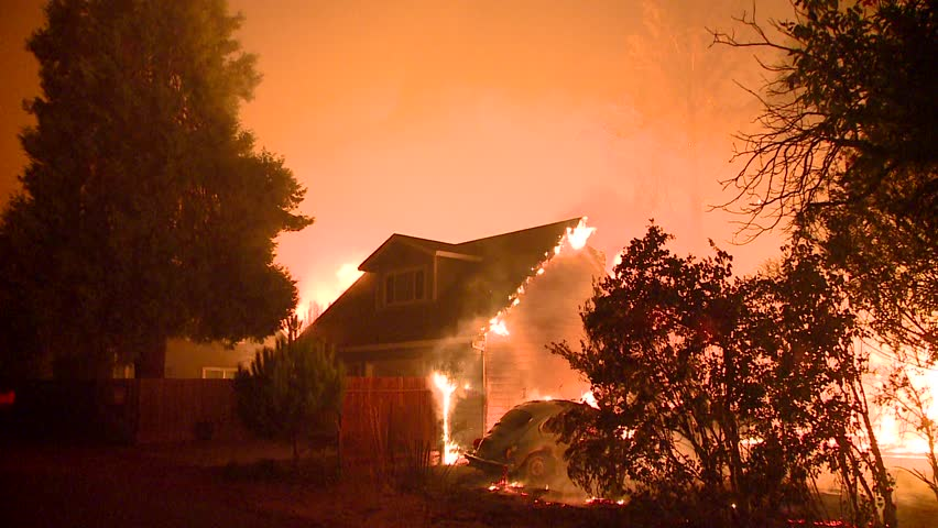FOREST FIRES OF NORTHERN CALIFORNIA SUMMER 2015 WILD FIRES SMOKE FLAMES FIREFIGHTER CREWS BATTLE THE FIRES DURING THE DRY DROUGHT CONDITIONS HD HIGH DEFINITION STOCK VIDEO FOOTAGE CLIP 1920X1080