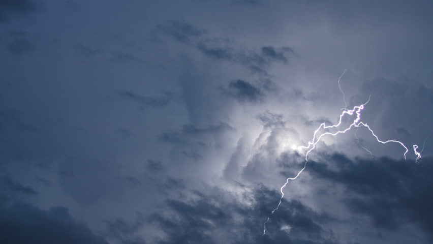Real Lightning Caught on Video with a Zoom Lens at Night | Shutterstock HD Video #11915987