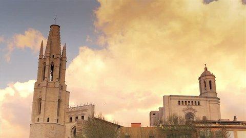 Girona sunset time lapse