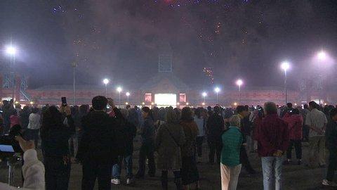 Markham, Ontario, Canada September 2015 fireworks display