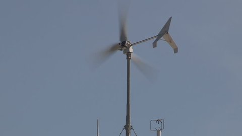 Weather station instruments mounted at university  campus
