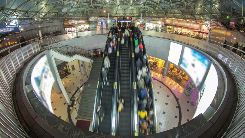 people on escalators. people on escalators t