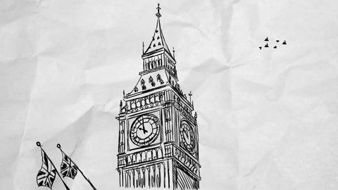 Stock Illustration - Big Ben. Clip Art gg58266933 | Big ben, Big ben  drawing, London drawing