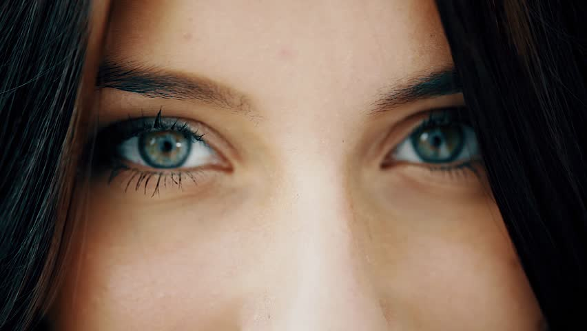 Close up of green beautiful 18-year-old girl eyes | Shutterstock HD Video #12017672