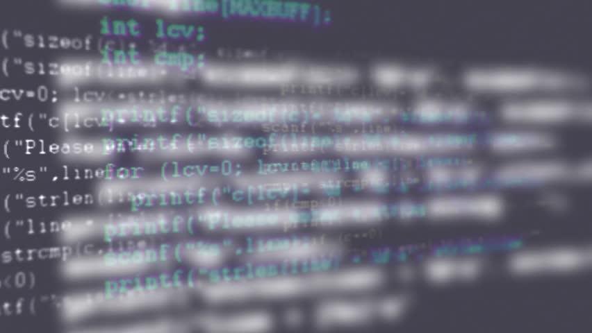 Programming code running down a computer screen terminal | Shutterstock HD Video #12020015