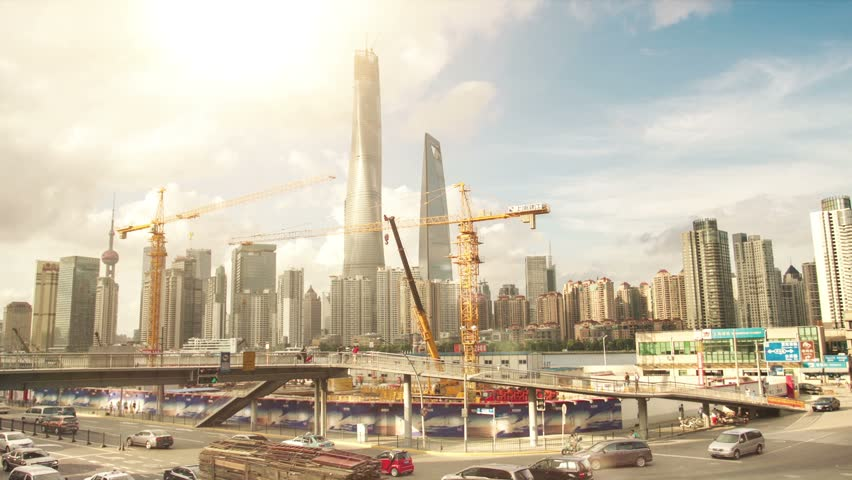 Shanghai Skyscrapers. Construction.TimeLapse | Shutterstock HD Video #12035882