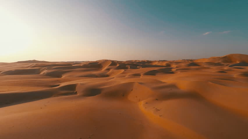 Pristine red sand dunes rolling off into the distance #12045986