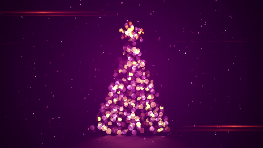 Shape Of Christmas Tree With Blurred