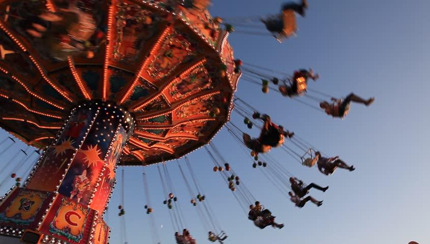 MUNICH - SEPTEMBER 27, 2012: Oktoberfest chairoplane