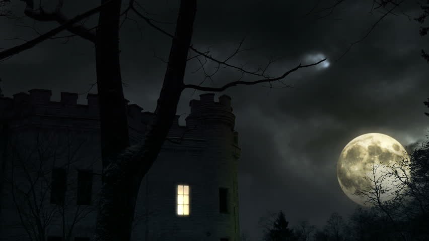Dark castle in moonlight | Shutterstock HD Video #121300