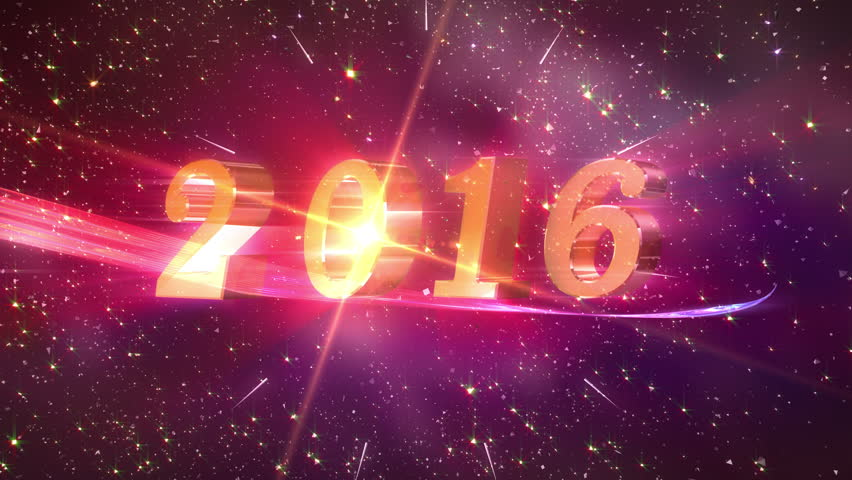 2016 New Year animation. High quality 2016 New Year animation. Best for New Year's Eve, friends party, and other event.
