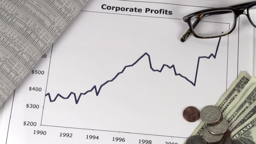 Corporate profits chart with cash - HD | Shutterstock HD Video #1217725