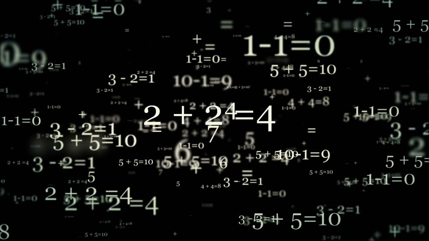Concept with mathematical numbers in white on black   Shutterstock HD Video #12209375