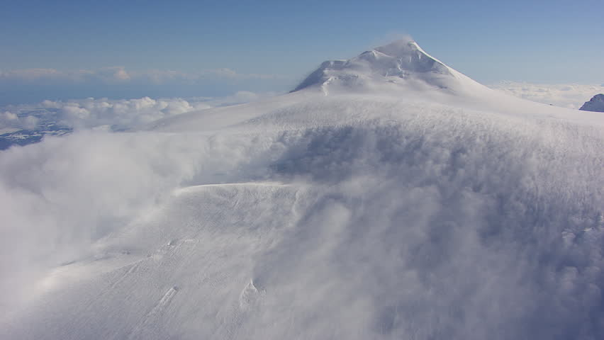 MS AERIAL View of avalanche on Tordrillo snowy mountain peak / Alaska, United States | Shutterstock HD Video #12214697