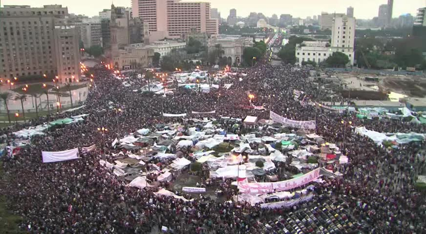 all day shot of tahrir square egypt