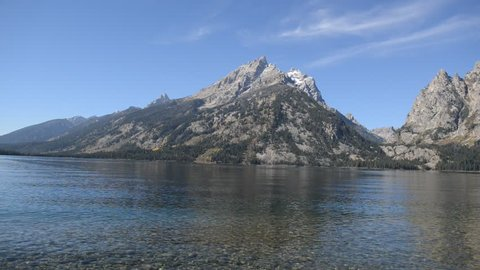Rocky Mountain Landscape in Grand Teton National Park, Wyoming
