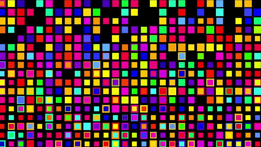 Crazy multicolor color squares, Alpha | Shutterstock HD Video #12259016