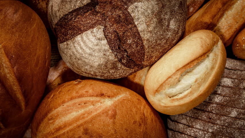 Breads and baked goods close-up 4K ULTRA HD | Shutterstock HD Video #12265373