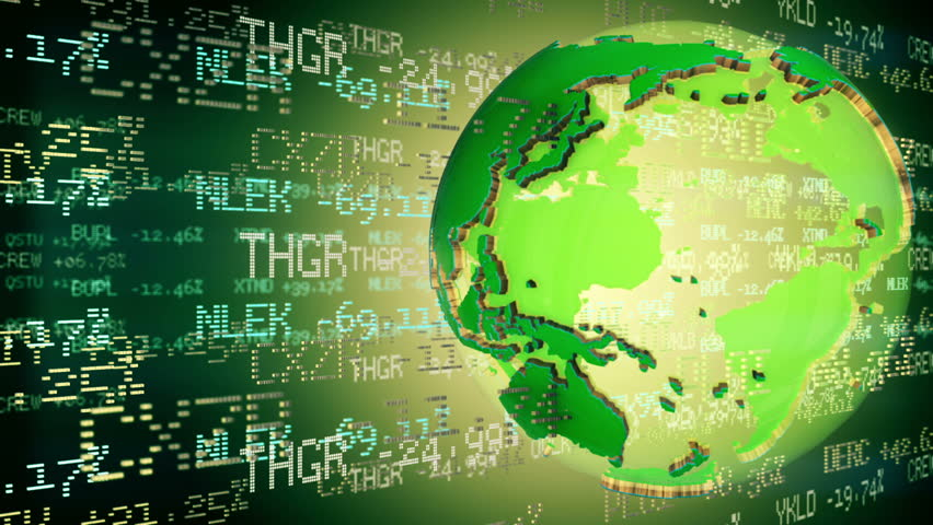 Stock Market Tickers with world globe. Loop animation. | Shutterstock HD Video #12289454