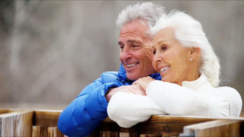 American Caucasian male female active seniors Aspen mountains trees walking tourist vacation insurance confident hiking clothing RED DRAGON | Shutterstock HD Video #12330803