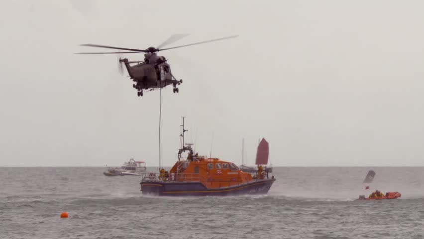 Eastbourne airshow, helicopter rescue operation