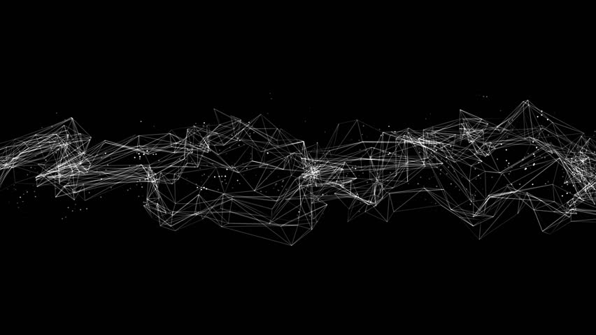 Connection wireframe structure with particles animation | Shutterstock HD Video #12371411