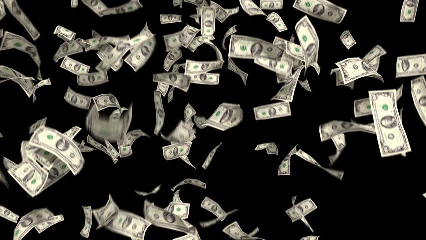 Money Falling Dollars Financial Win US Currency Tax Make It Rain 4k