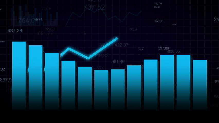 Growing chart on dark blue background | Shutterstock HD Video #12394481