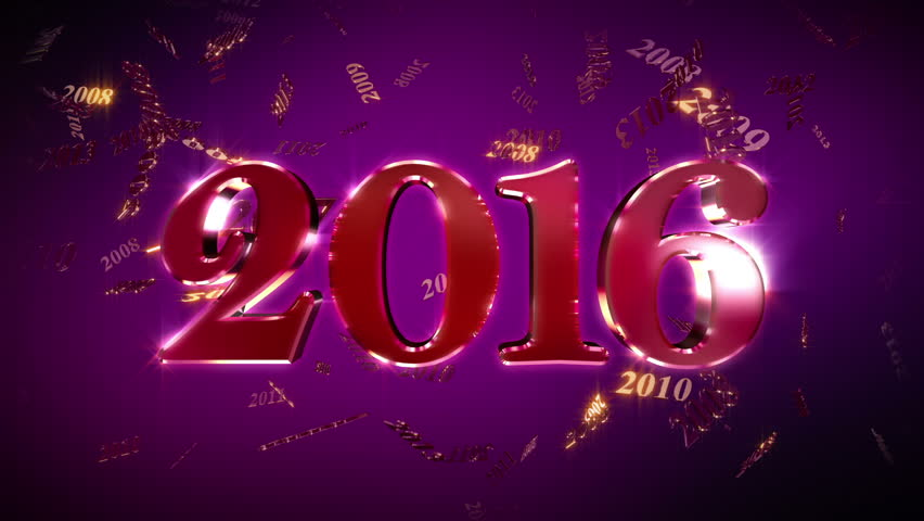New Year 2016 Loopable Animation. 2016 New Year animation. Best for New Year's Eve, friends party, and other event.