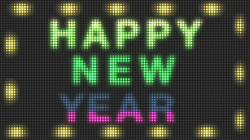 Happy New Year LED Sign