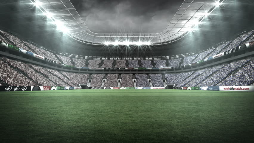 View of a rugby stadium in night during world cup | Shutterstock HD Video #12447677