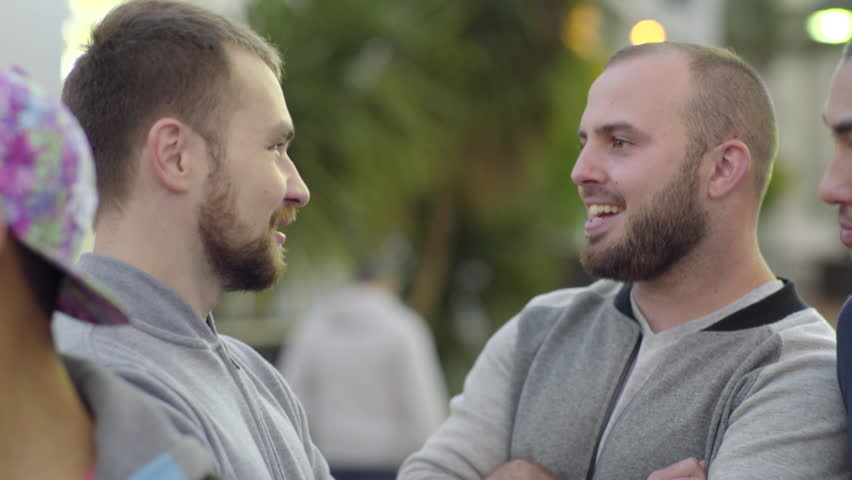 Gay Couples Enjoy A Conversation On Group Date In The Castro, San Francisco  | Shutterstock HD Video #12499073