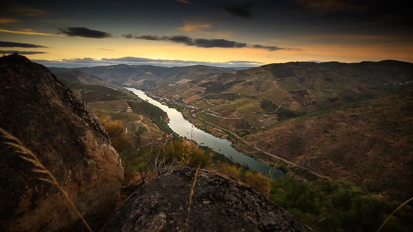Cinemagraph Loop - high view of country river surrounded by hills and fields - motion photo | Shutterstock HD Video #12532508