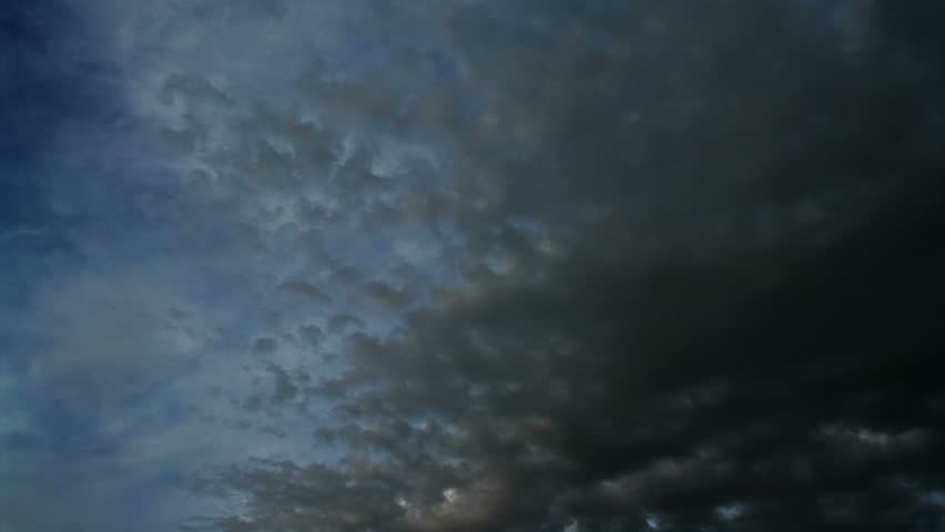 Timelapse of black clouds moving fast   Shutterstock HD Video #1253341