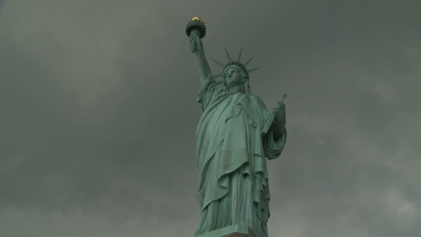 Stormy weather at Statue of Liberty. New York, USA. 2010. | Shutterstock HD Video #12540509