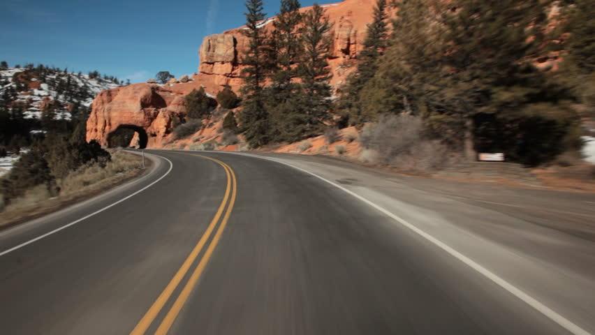 Open road POV   Shutterstock HD Video #1256575