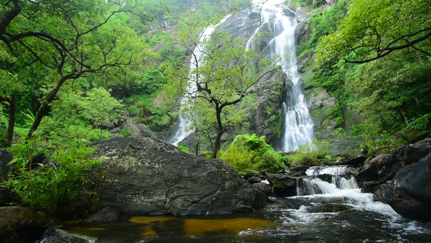 Forest waterfall at Klong Lan waterfall National Park, Kampangphet, Thailand. | Shutterstock HD Video #12605054