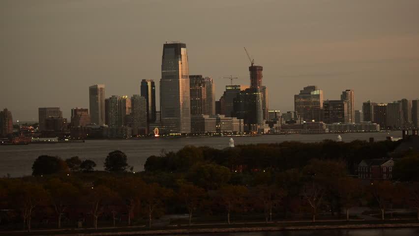 Jersey City Skyline at the Sunrise. Jersey City Cityscape. | Shutterstock HD Video #12623615