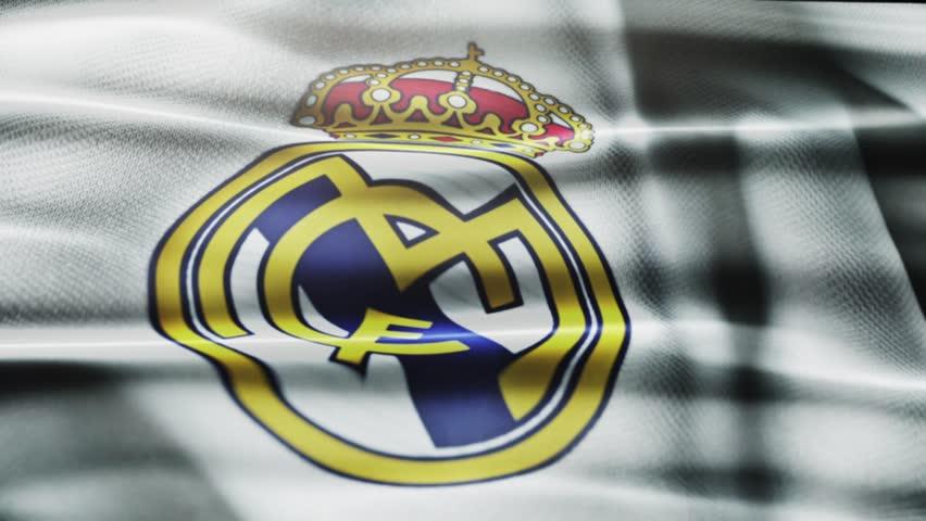 Madrid , Spain - 30 October 2015 - Animated logo of Spanish football club Real Madrid C.F.