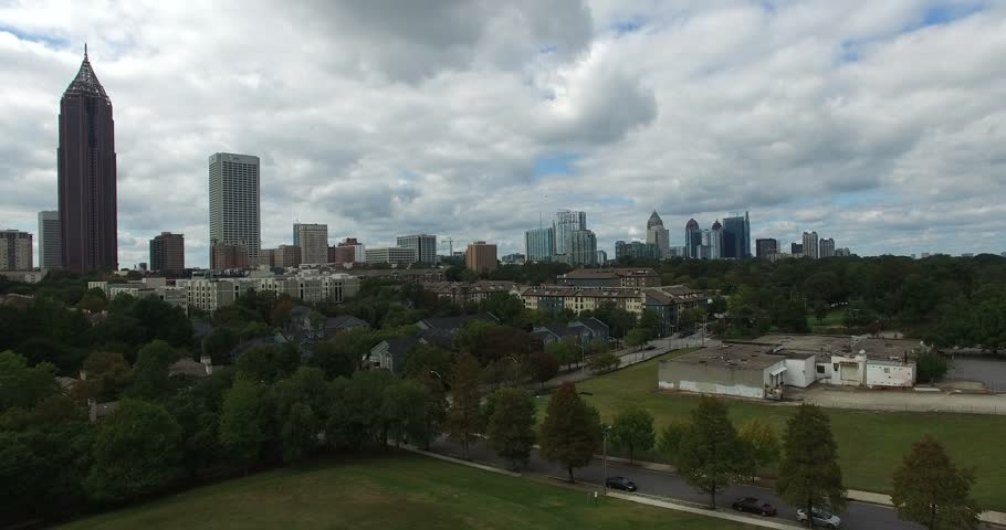 Atlanta downtown aerial