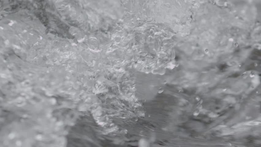 CU SLO MO SELECTIVE FOCUS Splashing water of fast stream | Shutterstock HD Video #12708962
