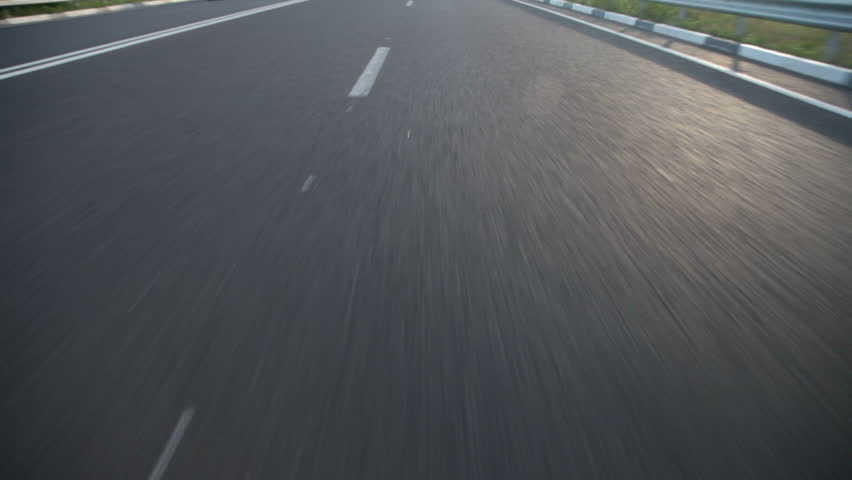 speeding down a  highway