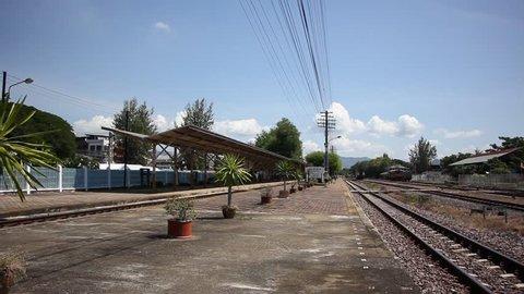 LAMPANG, THAILAND -OCTOBER 21 2015:  Nakhon Lampang Train station, thailand.