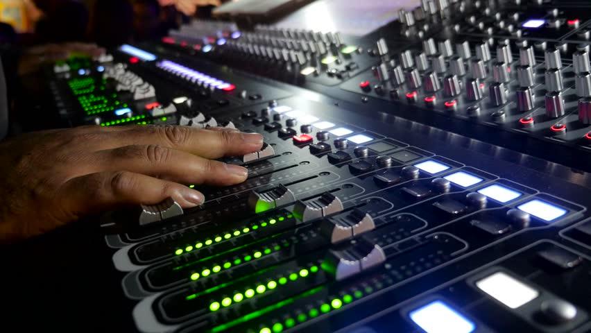 live show, audio Mixer
