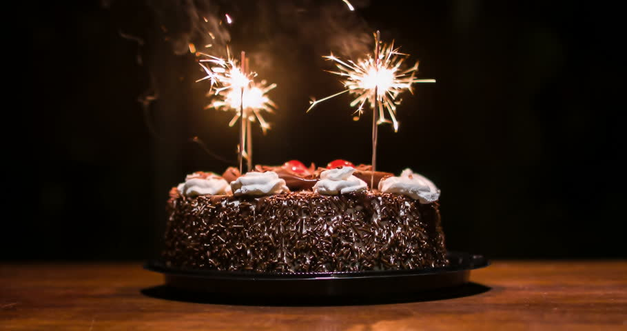 Admirable Chocolate Cake With Candles To Celebrate The Birthday Funny Birthday Cards Online Alyptdamsfinfo