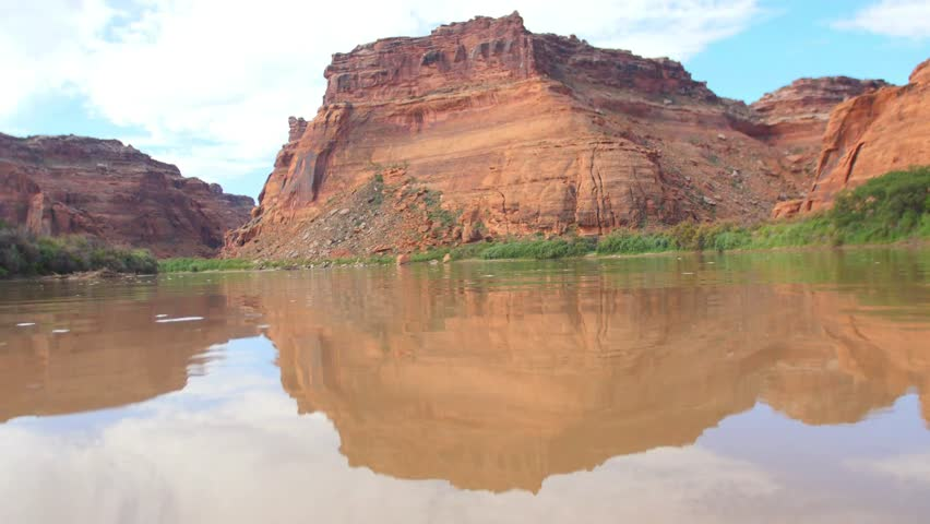 River current and red rocks low | Shutterstock HD Video #12765233