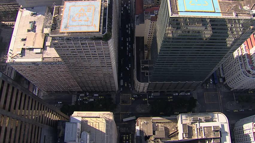 Rio de Janeiro City Buildings, overhead aerial shot   Shutterstock HD Video #12793781